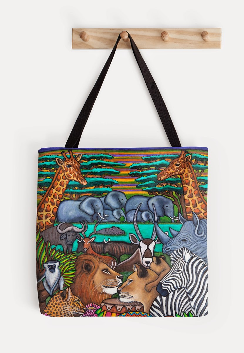 http://www.redbubble.com/people/lisalorenz/works/12103276-colours-of-africa?p=tote-bag&ref=artist_shop_grid