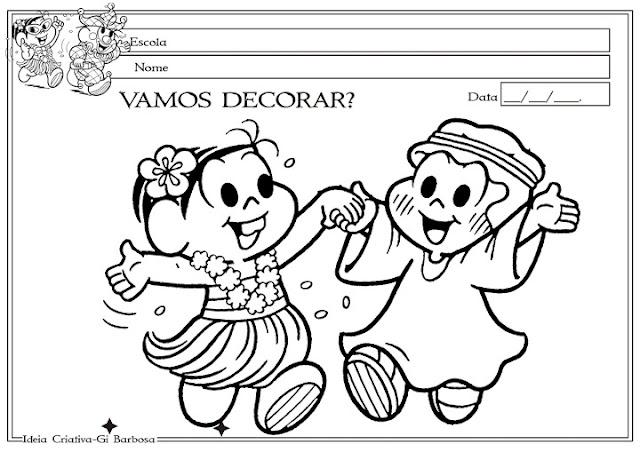Atividade Maternalzinho Carnaval crianças de 2 e 3 anos