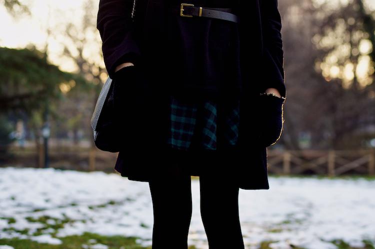 tartan skirt detail