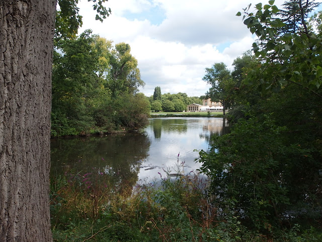 A final view towards Buckingham Palace by the lake