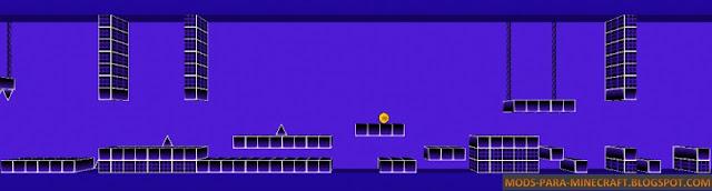 Imagen 3 Geometry Dash Mapa ara Minecraft 1.8