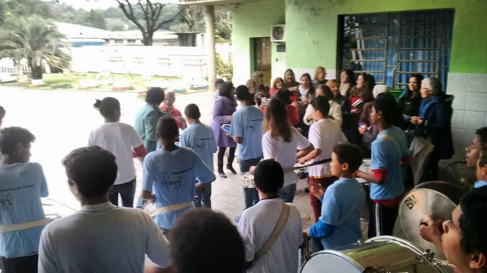 Recepção dos alunos e professores para Manoel Ianzer