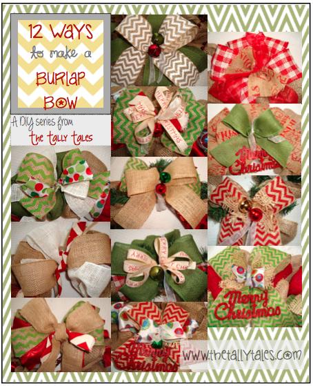 Tally tales diy 12 ways to make a burlap bow diy 12 ways to make a burlap bow solutioingenieria Choice Image