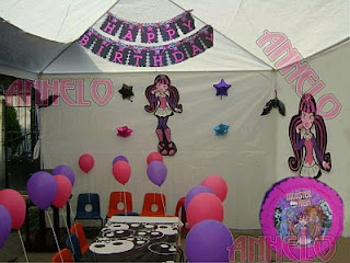 Fiestas Infantiles, Decoración Monster High