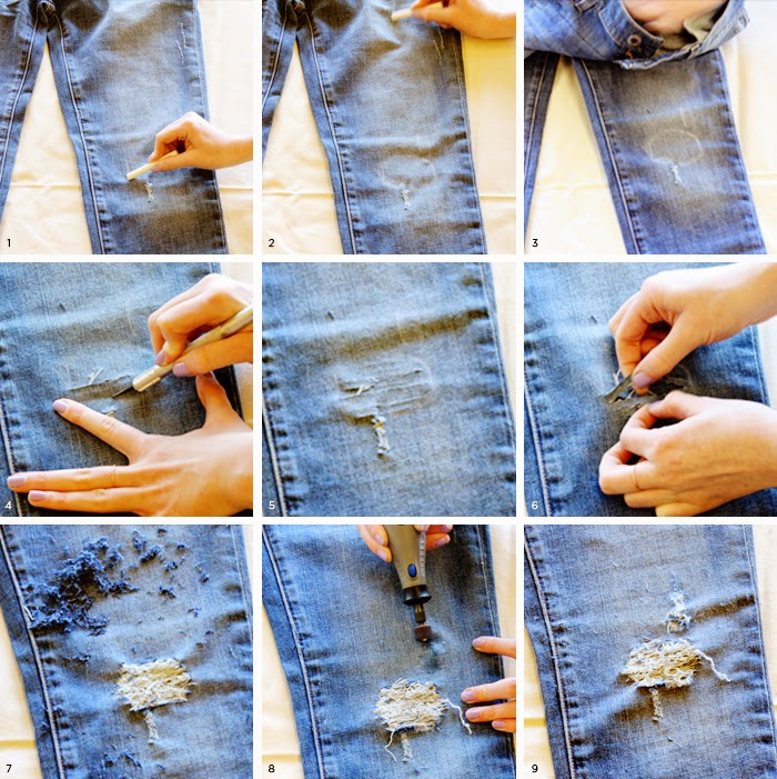 DIY | Ripped Jeans - Stelly Blog