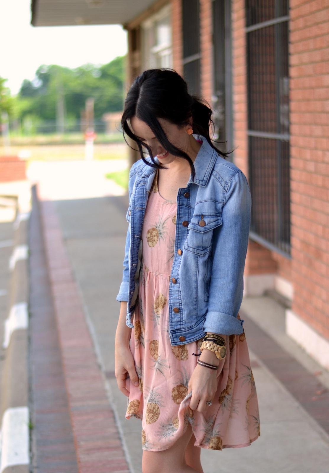 Summer pineapple print dress from Boohoo