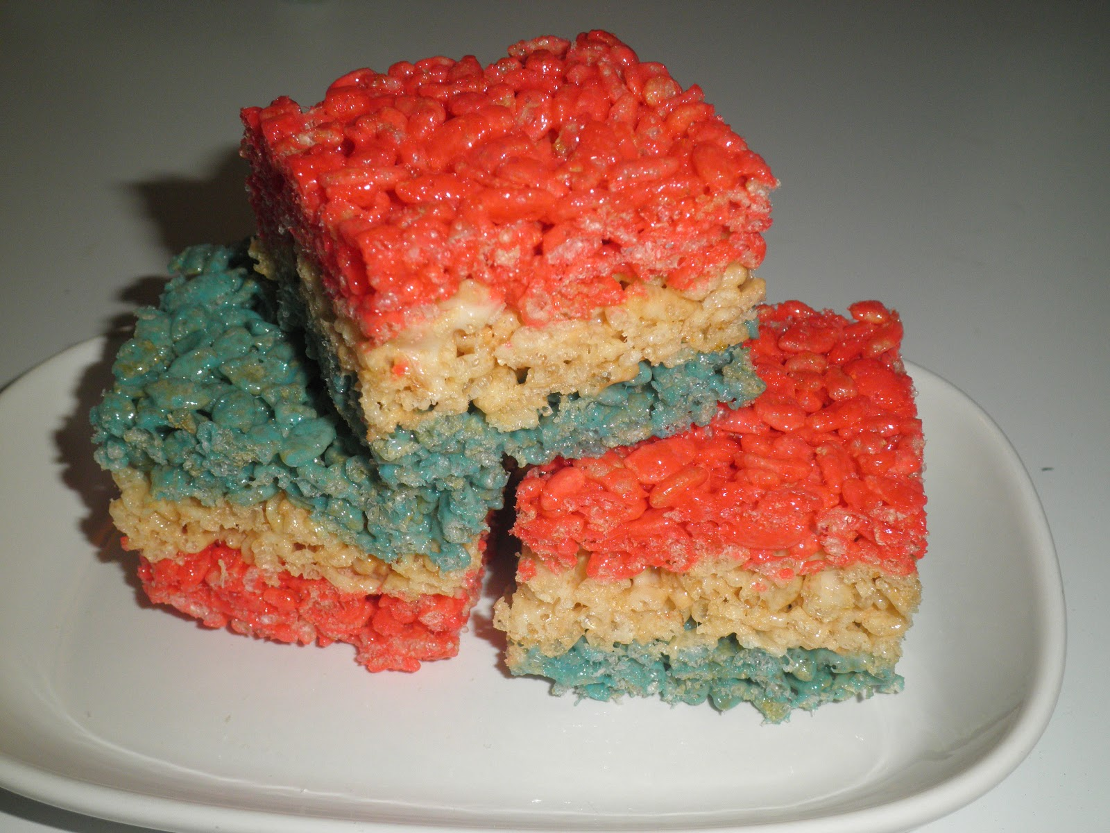 Secrets from the Cookie Princess: Patriotic Rice Krispies Treats