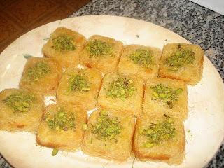 حلويات رمضان 2013 : مكعبات الكنافة محشية بالقشدة الطرية بالصور