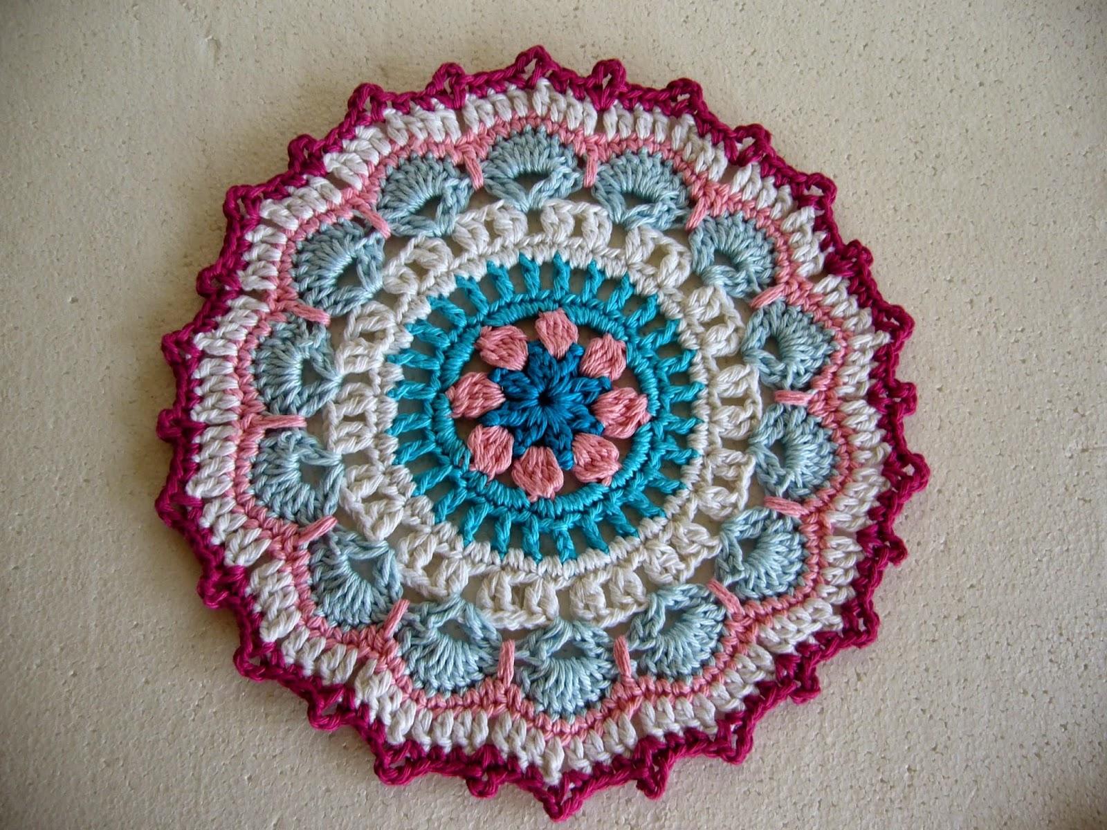 Crochet mandala plum