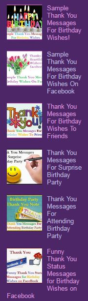 Sample Thank You Wordings