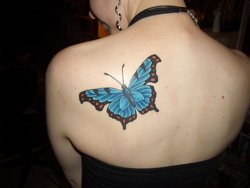 butterfly,tattoos,back