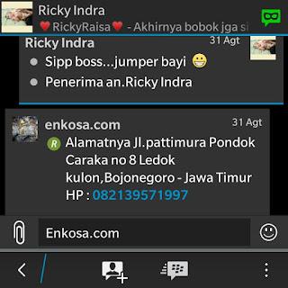 Konfirmasi alamat lengkap Ricky Indra oleh enkosa sport lokasi di jakarta pasar tanah abang