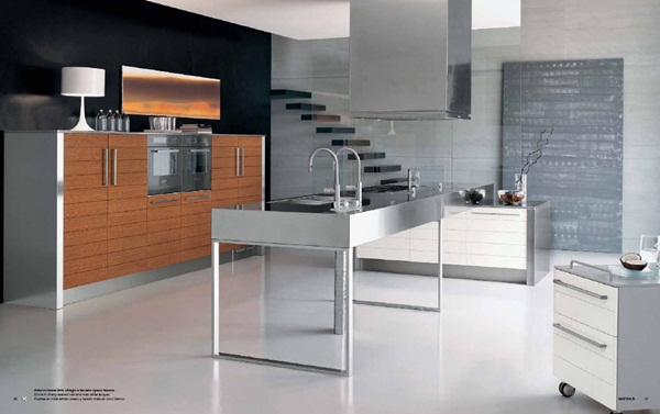 Modern Stainless Steel Kitchen Designs Flexible