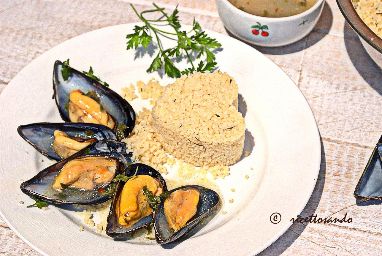 Cozze in salsa piccante e couscous al timo ricetta di salsa piccante