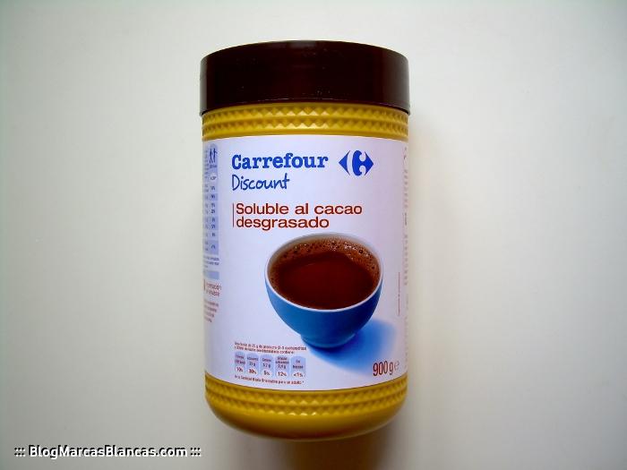 Cacao soluble CARREFOUR DISCOUNT el blog de las marcas blancas