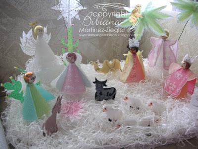 nativity parchment front view