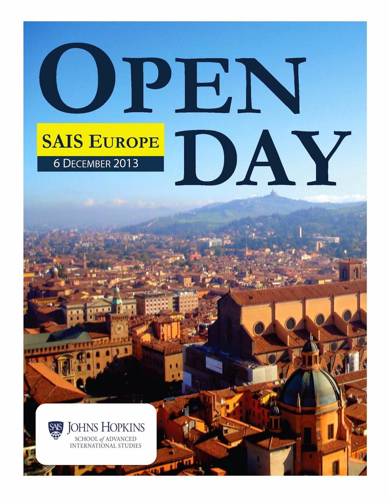 Johns Hopkins SAIS Europe (Bologna) Admissions Blog: October 2013