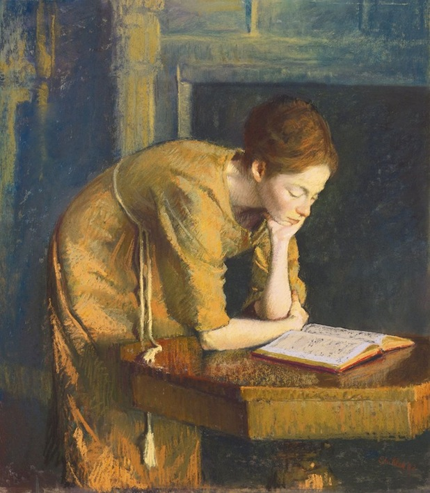 Aaron Shikler. Woman Reading (The Artist's Wife) 1962