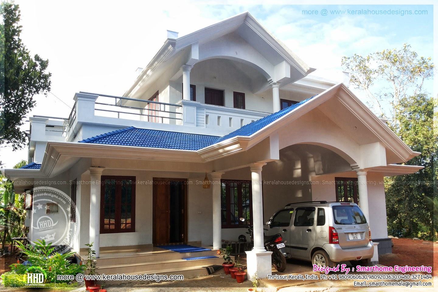 1636 sq ft completed villa aashtamichira thrissur home
