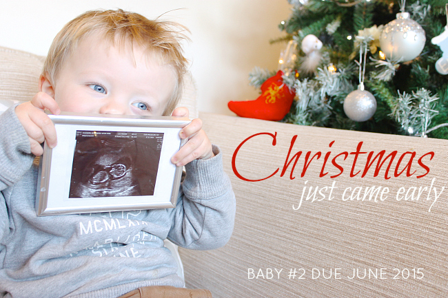 Christmas Pregnancy Announcement,