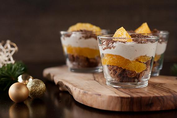 Weihnachtliches Orangen Lebkuchen Dessert Im Glas Und Die Frage