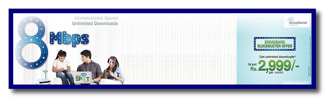 8Mbps Broadband Blockbuster Offer By PTCL