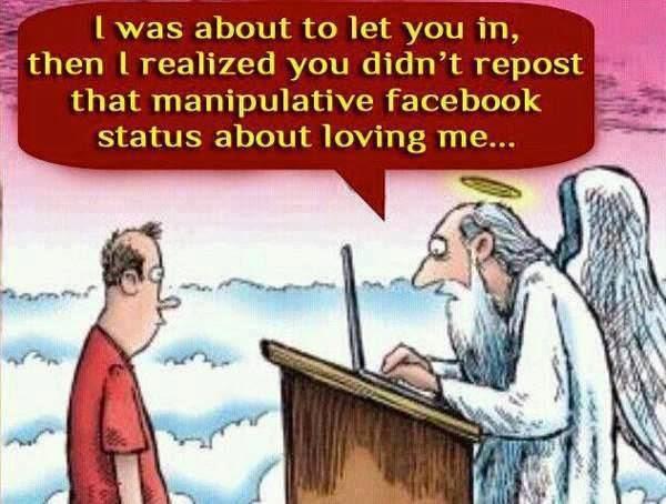 You Didn't Repost Manipulative Facebook Status About Me