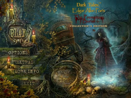 Dark Tales: Edgar Allan Poe's The Premature Burial Collector's Edition main menu