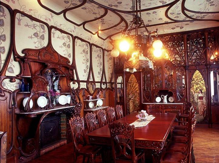 Art nouveau arquitectura e interiores for Decoracion art nouveau