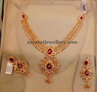 cz necklace in diamond style jewellery designs