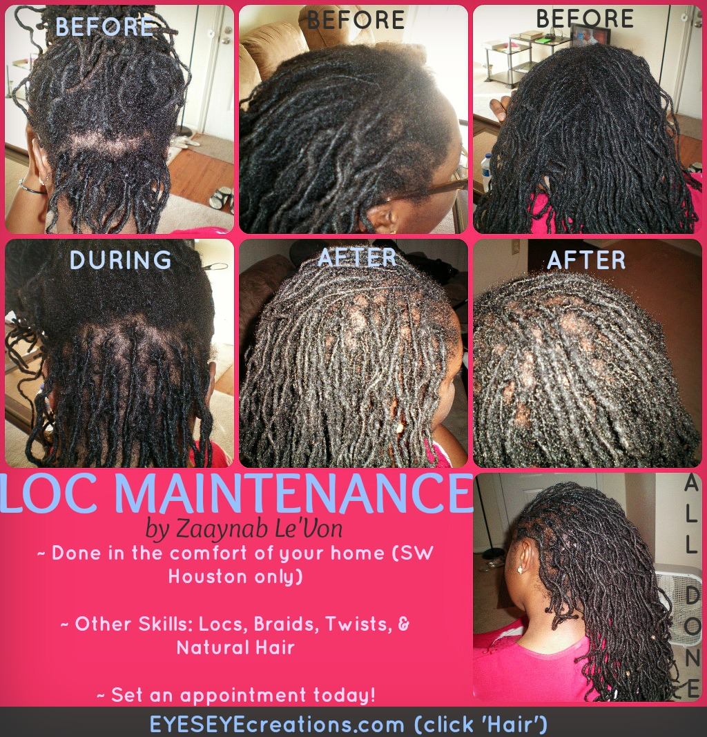 LOC MAINTENANCE (just palm-rolling and weaving in loose hairs