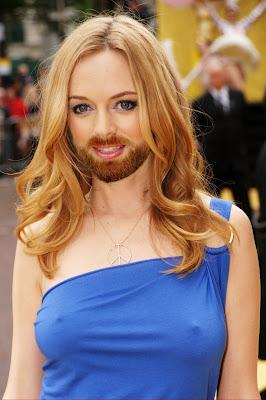 Look up a little guys, she has a beard