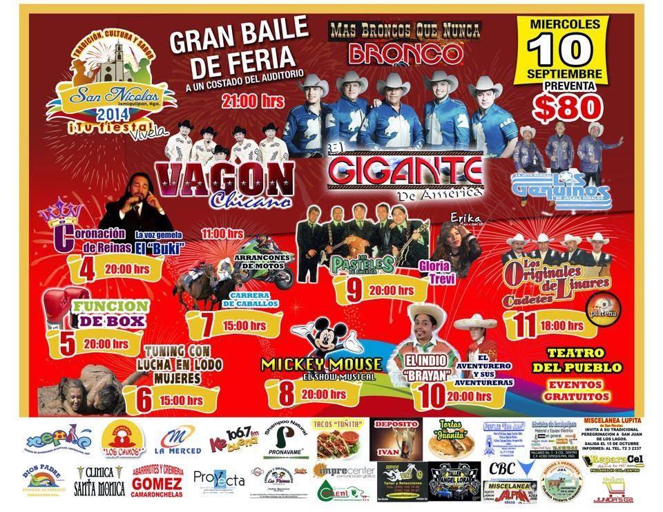 Feria San Nicolás Ixmiquilpan 2014 Teatro del pueblo