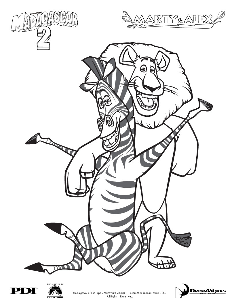 cartoons coloring pages marty coloring pages