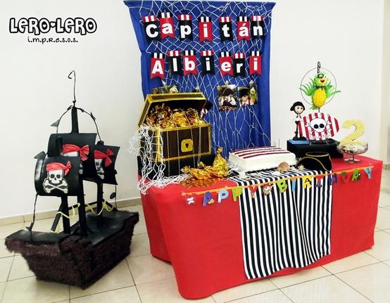Piratas - Decoración de Fiestas de Cumpleaños Infantiles : Fiestas ...