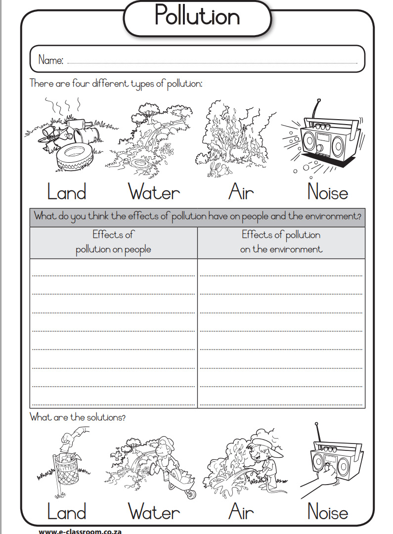 Printables. Water Pollution Worksheet. Happywheelsfreak ...