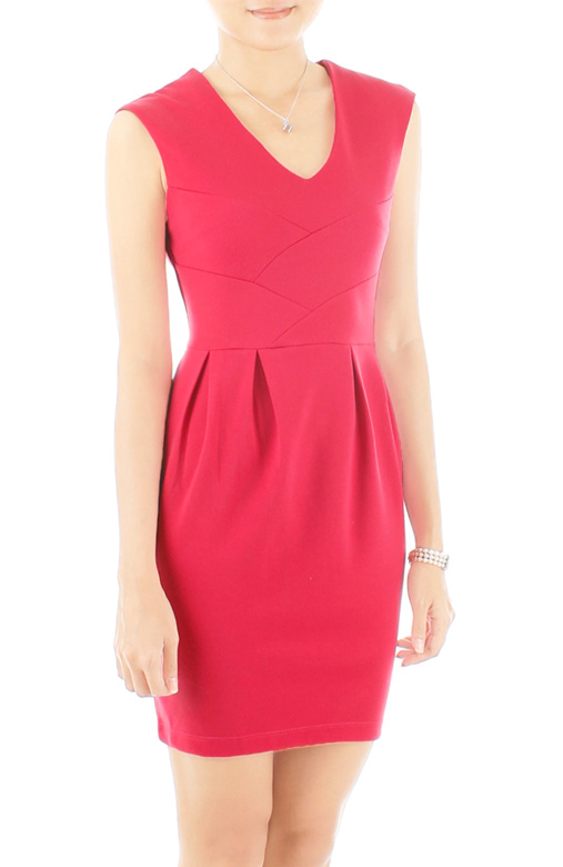 Dorothy Perkins-inspired Lampshade PETITE Dress - Raspberry