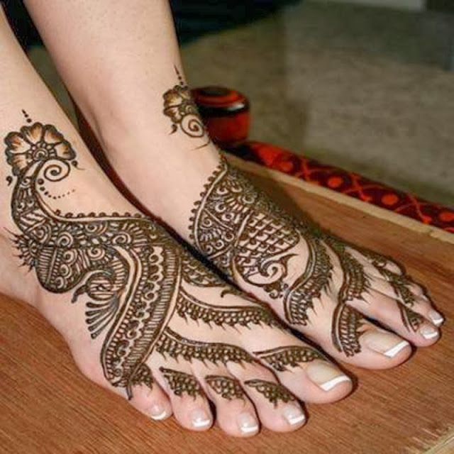 Hair Style — Mehndi Designs Legs Pictures 2013-2014 , New...