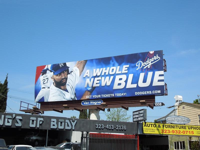 Dodgers Whole new blue billboard