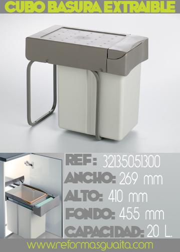 Muebles para basura cocina cubo de basura extraible con for Cubos de basura cocina