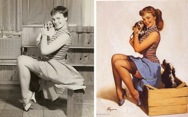 American pin up artist, Gil Elvgren paintings, pin up models-2