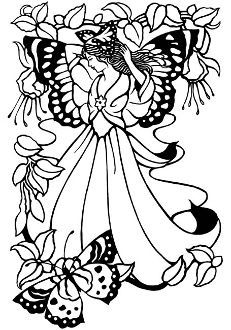 mimi's pixie corner fairies free coloring pages