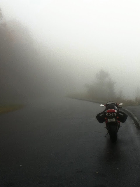 Fog in the Blue Ridge Parkway