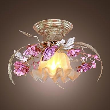 Lámpara de techo Flores de Cristal