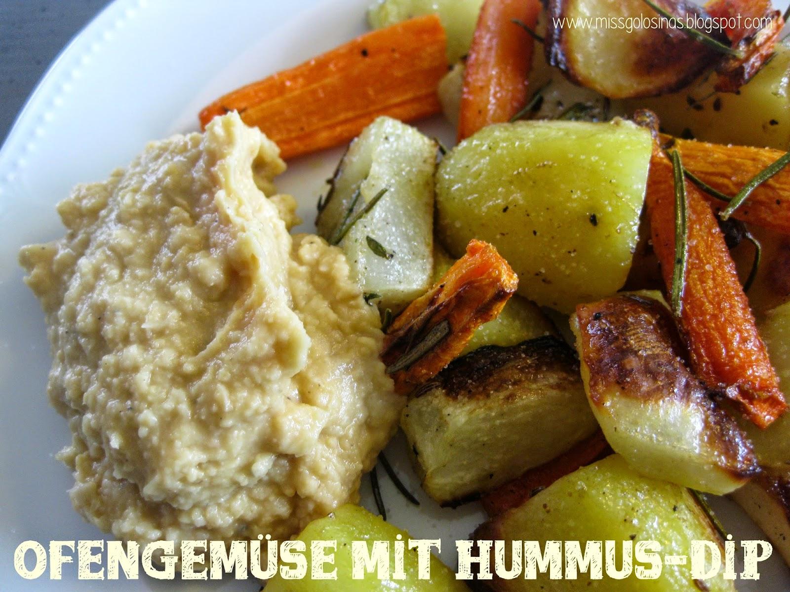 verduras al horno con Hummus, oven vegetables