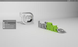 linux mint 13 lightdm login screen
