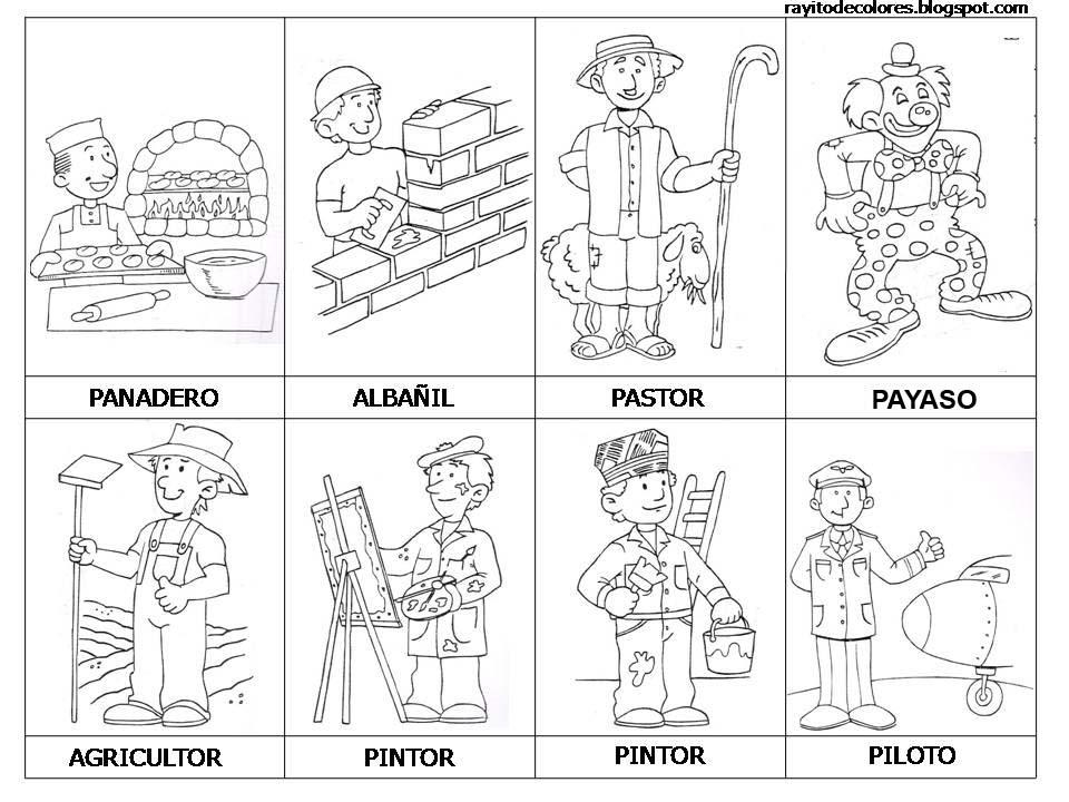 Profesiones y oficios colorear