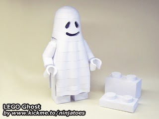 LEGO Papercraft Ghost