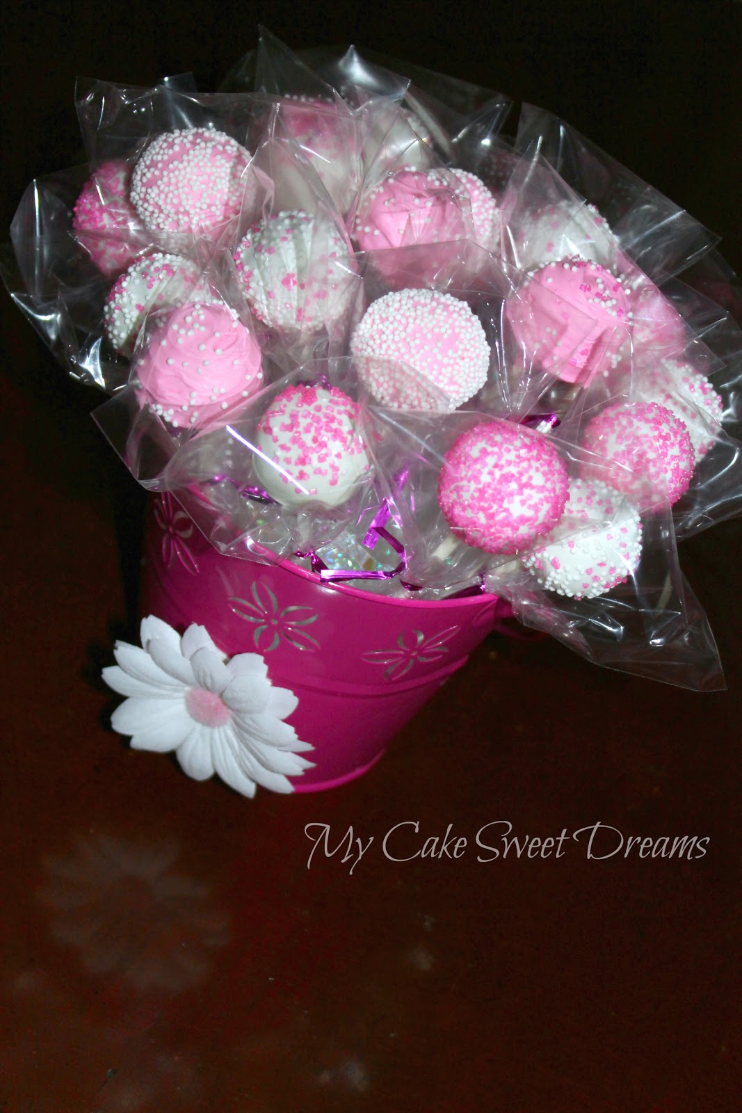 My cake sweet dreams quot birthday pink cake pops