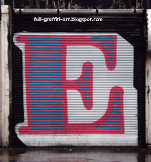 E On Alphabet graffiti